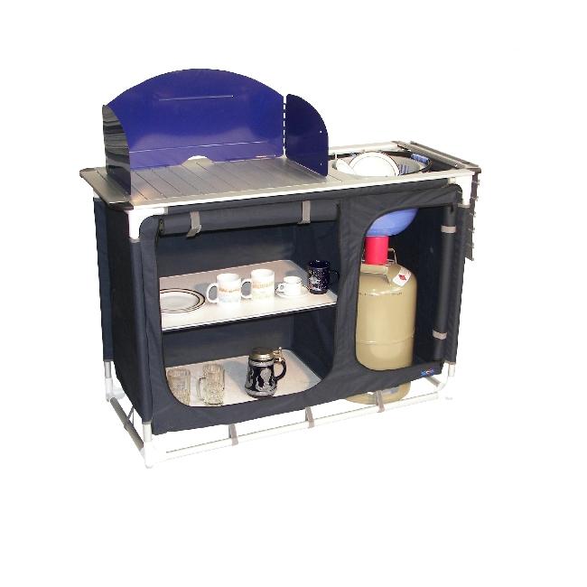 camping bel sol k che k chenschrank faltschrank blau ebay. Black Bedroom Furniture Sets. Home Design Ideas