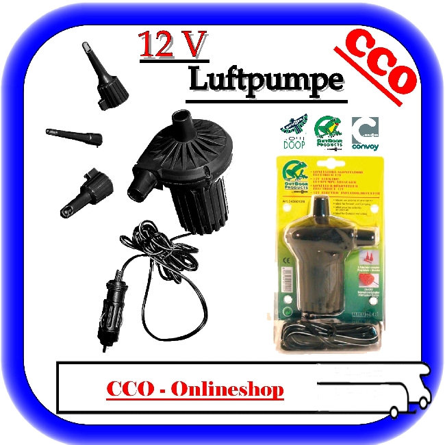 camping luftpumpe kompressor pumpe luftmatratze 12 v ebay. Black Bedroom Furniture Sets. Home Design Ideas