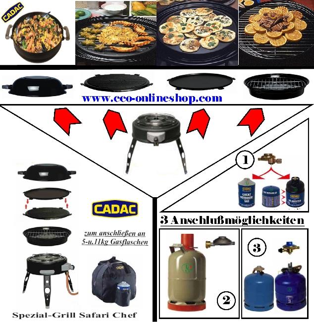 Camping cadac gasgrill safari chef skottel grill 4in1 ebay - Cadac safari chef ...